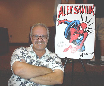 Alex Saviuk at Tampa Comic-con photo/Brandon Jones