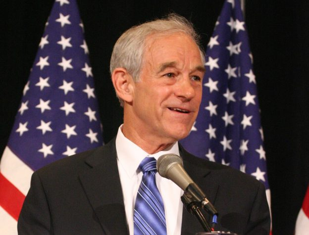 Ron Paul at the 2007 National Right to Life Convention, held at Crown Center Hyatt Regency in Kansas City, MO; June 15, 2007 photo/ R Deyoung via Wikicommons