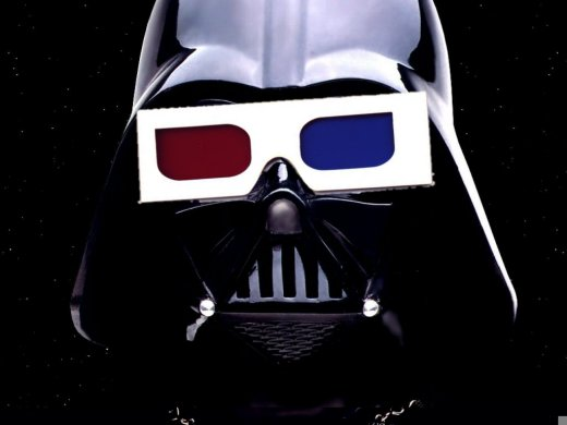 Star Wars 3D Darth Vader 3d glasses on