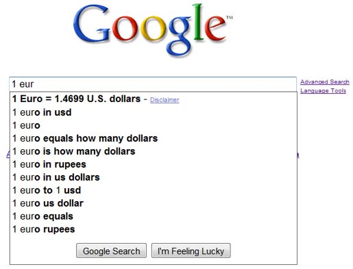Google screenshot Instant Answer Google instant search