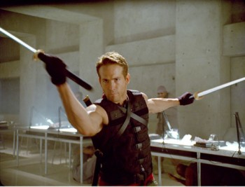 Ryan Reynolds is Wade Wilson, later to be known as Deadpool, a highly-efficient killing machine whose weapons of choice are katana swords.