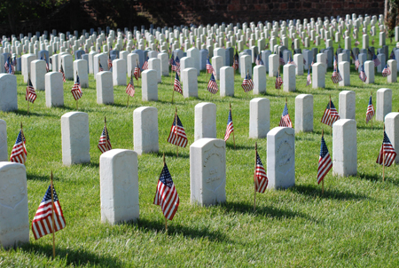 Alexandria National Cemetery in Virginia photo via http://www.cem.va.gov/