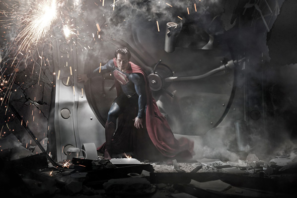 Henry-Cavill-as-Superman first photo Man of Steel