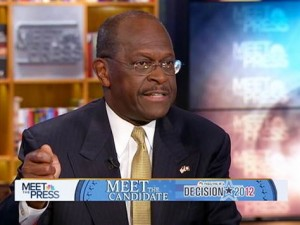 "Herman Cain opposing abortion on ""Meet the Press"""
