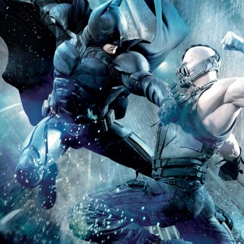 Batman vs Bane Dark Knight Rises banner