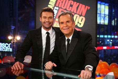 Ryan Seacreat and Dick Clark on their New Year's Eve special, 2009 photo