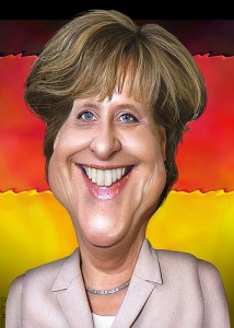 Angela Merkel cartoon caricature