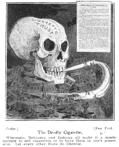 Anti-Smoking ad date 1905, public domain
