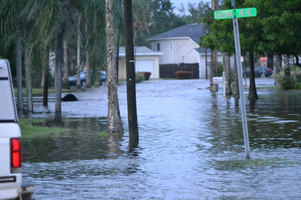 Flooding from Tropical Storm Debby in Pinellas county Photo/Sic Mic
