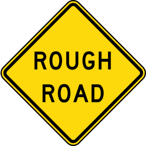 Rough Road Sign public domain