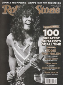 2011 Rolling Stone cover featuring their list of 100 Greatest Guitarists / Rolling Stone