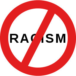 no racism symbol slash logo