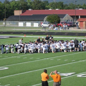 Ridgeland High School praying, Facebook photo