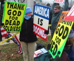 Westboro Baptist Church protest in Illinois