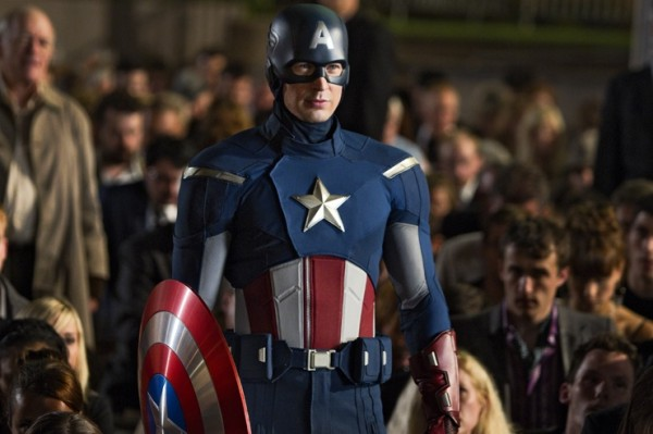 "Chris Evans as Captain America in ""The Avengers"" photo Marvel Studios"