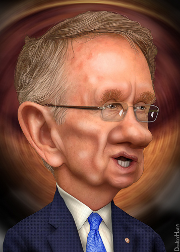 Harry Reid caricature by donkeyhotey donkeyhotey@wordpress.com