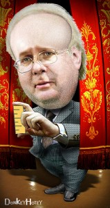 Karl Rove caricature by donkeyhotey  donkeyhotey@wordpress.com