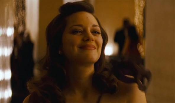 "Marion Cotillard in ""The Dark Knight Rises,"" MTV's choice as movie of the year."
