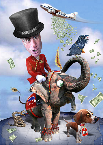 The high dolloar donors to the Romney campaign may be the key to getting GOP support photo donkeyhotey  donkeyhotey.wordpress.com