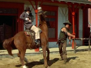 Mongo (Alex Karras) punches a horse in 'Blazing Saddles' photo Warner Bros