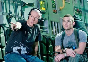 "James Cameron directing Sam Worthington on the set of ""Avatar - 20th Century Fox"