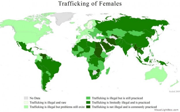 world map sex trafficking
