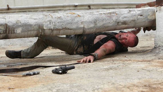 Michael Rooker Merle Walking Dead photo handcuffed to pipe