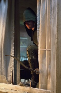 "Stephen Amell as Oliver Queen from ""Lone Gunman"" episode of ""Arrow"" CW Network"