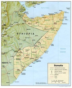 Somalia map - CIA source