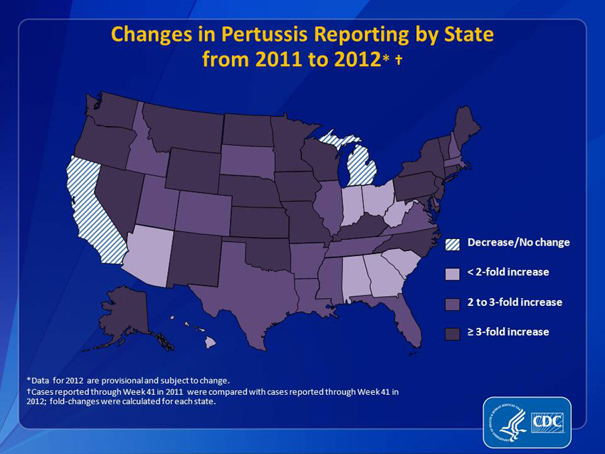 CDC pertussis map  Image/CDC