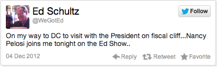 "Ed Schultz, a visitor the White House, is ""amazed"" people don't love President Obama"