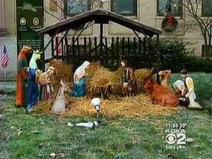 Ellwood City Nativity scene
