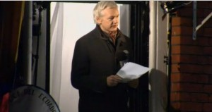 Julian Assange, Wikileaks founder, announcing more documents will be released in 2013  photo screenshot of video