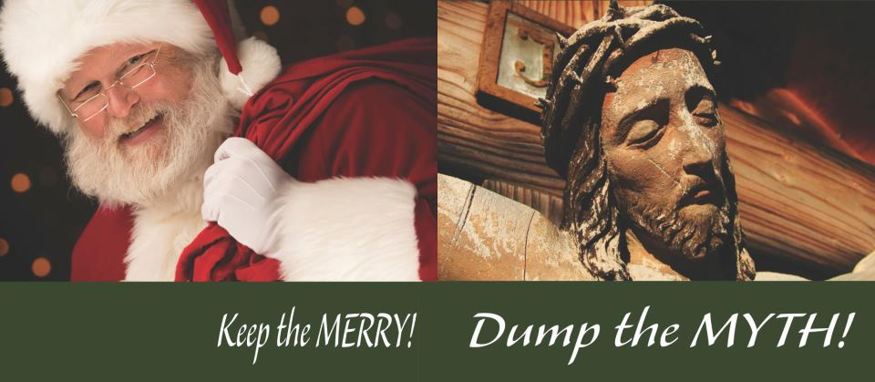 Keep the Merry Dump the Myth billboard from the American Atheists photo/ Facebook