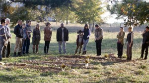 Walking Dead season 2 funeral photo cast