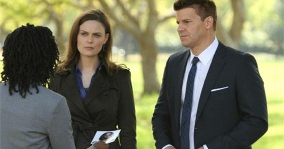 Bones-Season-8-Episode-6-The-Patriot-in-Purgatory-Brennan-and-Booth photo