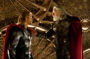 Chris Hemsworth Anthony Hopkins Thor Odin photo