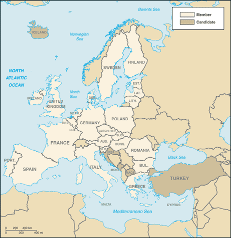 European Union Map Image/CIA