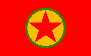The PKK flag photo by Herrn via wikipedia