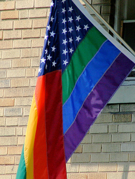 Gay pride american flag