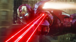 Iron Man battling aliens Avengers photo