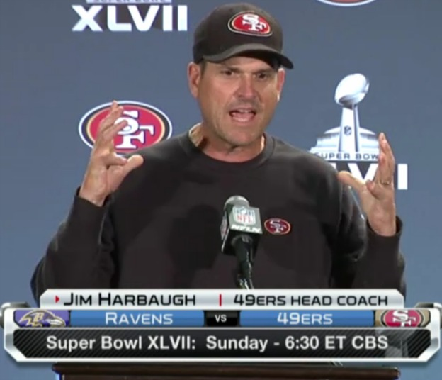 Jim Harbaugh son enormous head NFL football violence