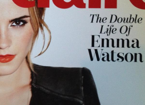 Marie Claire Emma Watson double life magazine cover