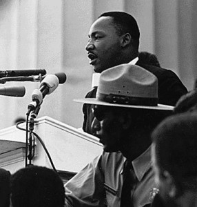 Martin Luther King Jr's famous speech at the Lincoln Memorial on August 28, 1963. Photo/ United States Information Agency