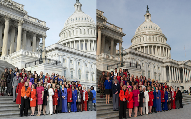 Nancy Pelosi doctored altered photo Congresswoman added