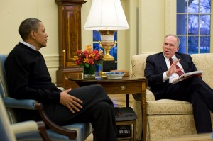 President Barack Obama meets with John Brennan, Assistant to the President for Counterterrorism and Homeland Security, in the Oval Office, Jan. 4, 2010. Official White House photo by Pete Souza