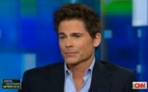 Rob Lowe Piers Morgan interview gun control