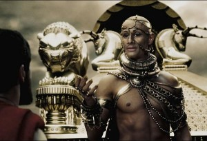"Rodrigo Santoro as Xerxes in ""300"""