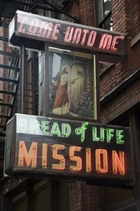 Seattle Bread of Life Mission sign