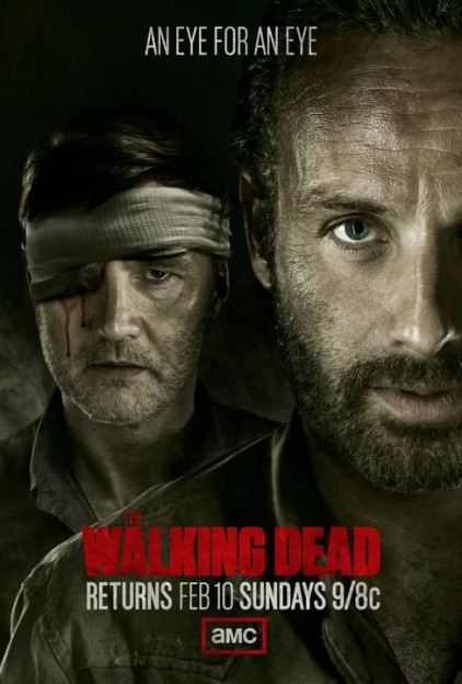 The Walking Dead season 3 winter return teaser poster Rick vs Governor